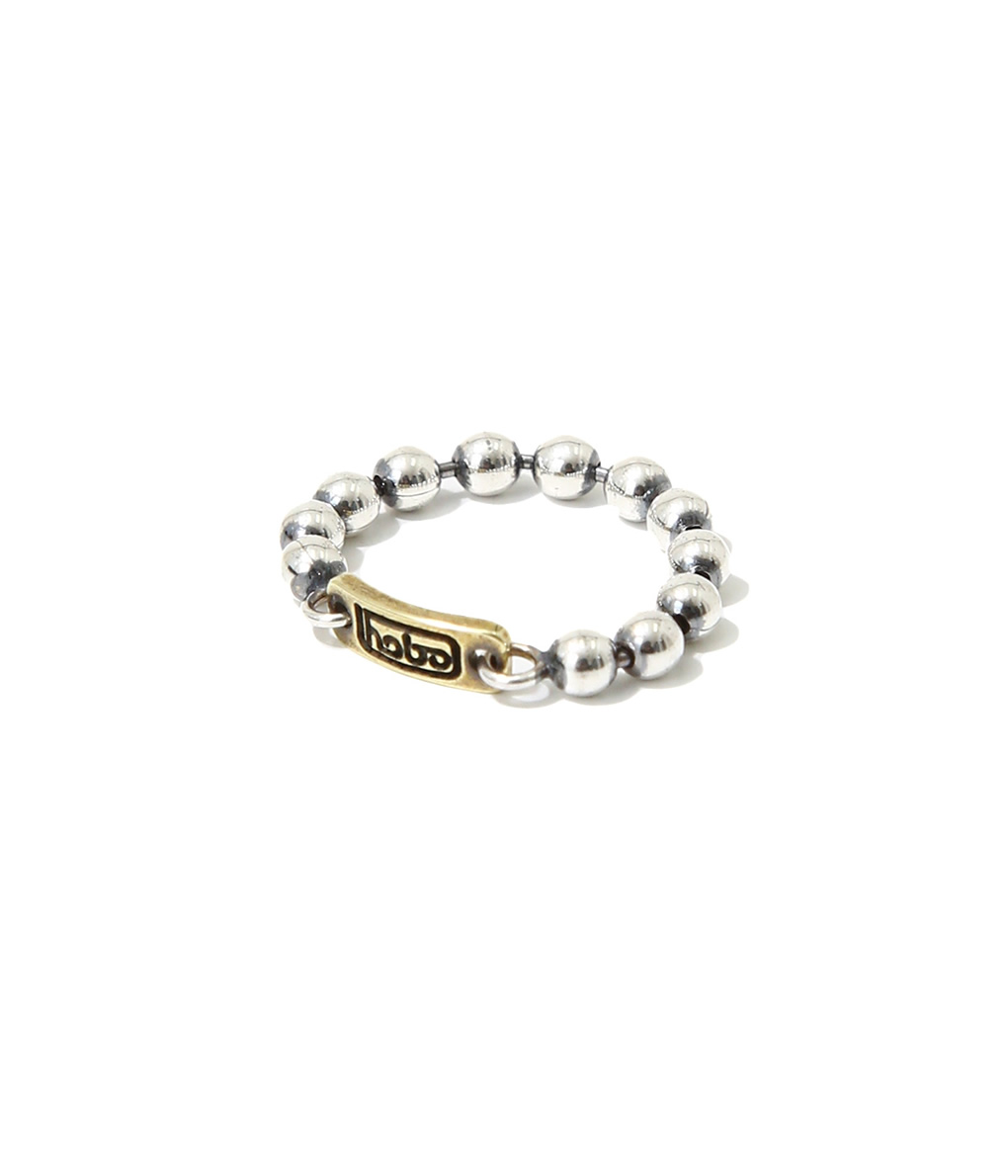 hobo / ホーボー : 925 Silver Ball Chain Ring with Brass : シルバー チェイン リング : HB-A2910【NOA】