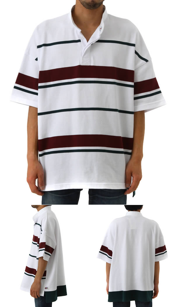 0c127a88 is-ness / isness: BIG RUGGER SHIRT is-ness X Cotton Traders: Big rugby  shirt shirt tops polo shirt men: 30SSCSCT02