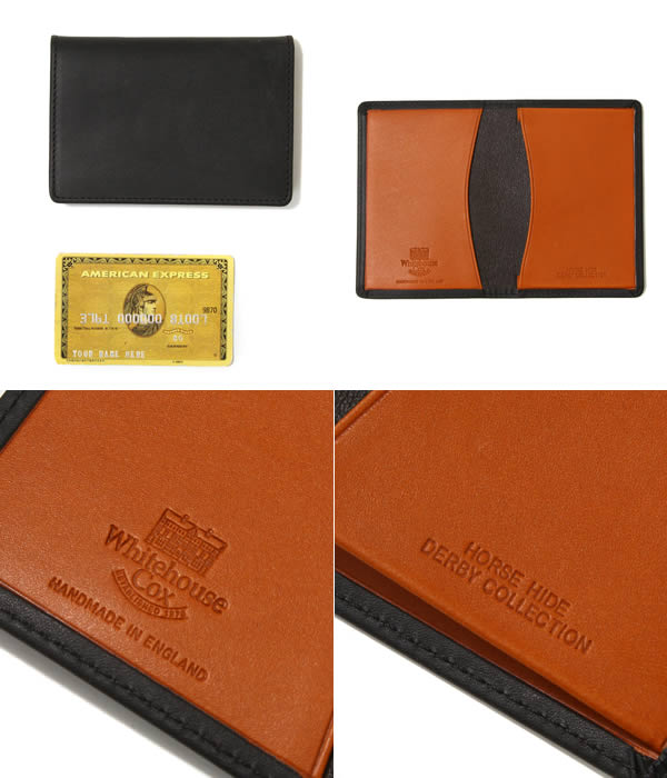 Whitehouse Cox / White House coxswain: The NAME CARD CASE - black / tongue:  Enter, and a card is available for a case card case leather business Derby