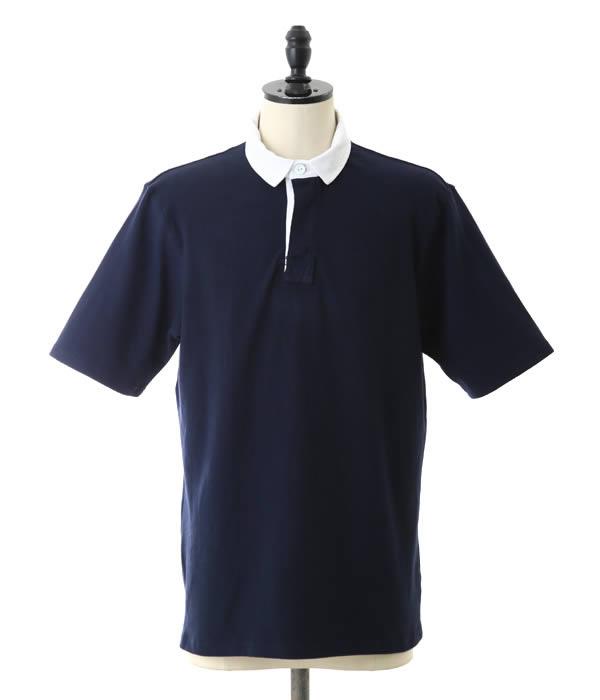 【アウトレットキャンペーン!】MAGILL LOS ANGELES / マギルロサンゼルス : Cooper : ラガーシャツ 半袖Tシャツ ポロシャツ ラグビーシャツ メンズ : ML-Cooper-NAV【MUS】