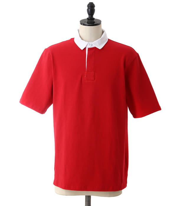 Magill Los Angeles Mcgill Cooper Rugby Shirt Short Sleeves T Polo Men Ml Red