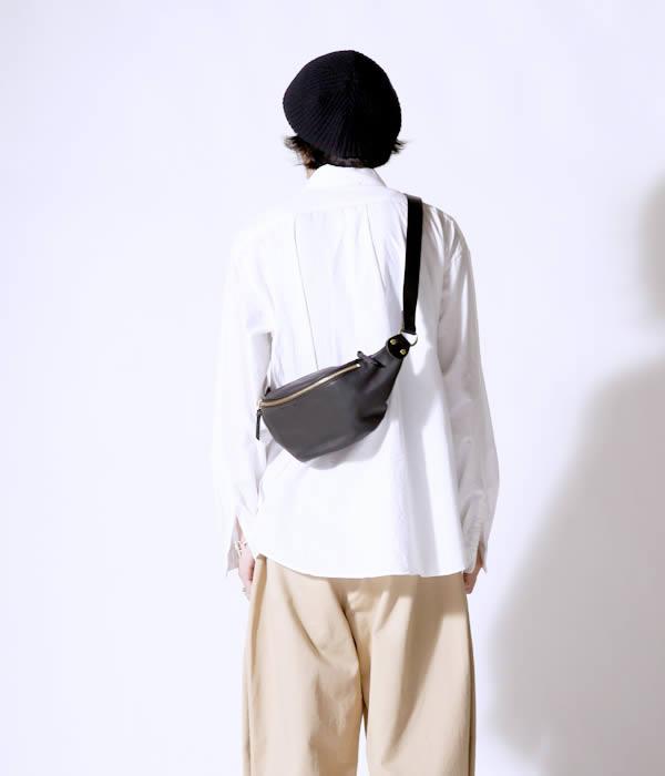 SLOW / スロウ : RUBONO ファニーバッグ / 全2色 : ボーノ ファニーバッグ ウエストポーチ ウエストバッグ バッグ 鞄 レザー : 300S61EG 【COR】