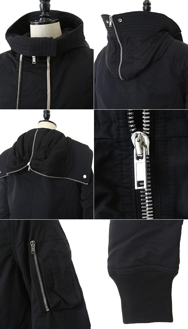ce4f2b85b DRKSHDW / dark shadow: HOODED BOMBER SHORT: Men's in フーデットボンバーショートリックオウエンス  Rick Owens 18AW 18 fall and ...