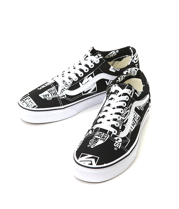 7b5e1bca VANS CLASSICS / vans classical music: OLD SKOOL -(LOGO MIX)BLACK/TRUE  WHITE: Station wagons sneakers old school lifestyle men: VN-0A38G1UA9