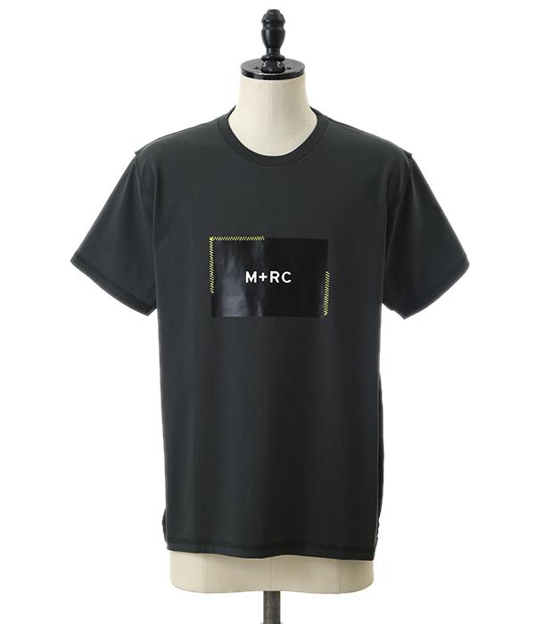 M+RC NOIR / マルシェノア : Black Box Logo Tee(ブラック ボックス ロゴ メンズ) 90018【WAX】