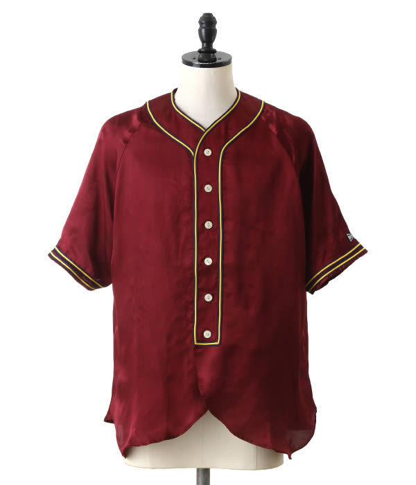 VOTE MAKE NEW CLOTHES / ヴォート メイク ニュークローズ : SATIN BASEBALL SHIRTS : サテン ベースボール シャツ サテン シャツ 18SS 18春夏 メンズ : 18SS-0009【WAX】