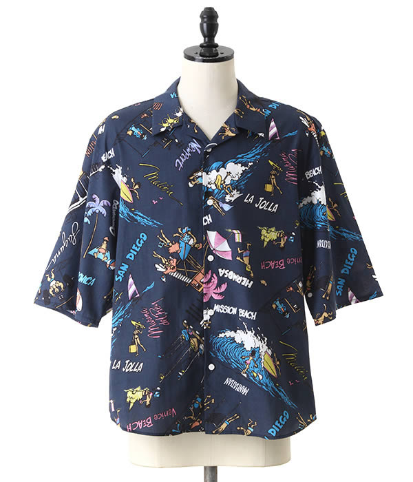 VOTE MAKE NEW CLOTHES / ヴォート メイク ニュークローズ : CALIFBIG BEACH SHIRTS : カリフ ビッグ ビーチ シャツ 18SS 18春夏 メンズ : 18SS-0018【WAX】
