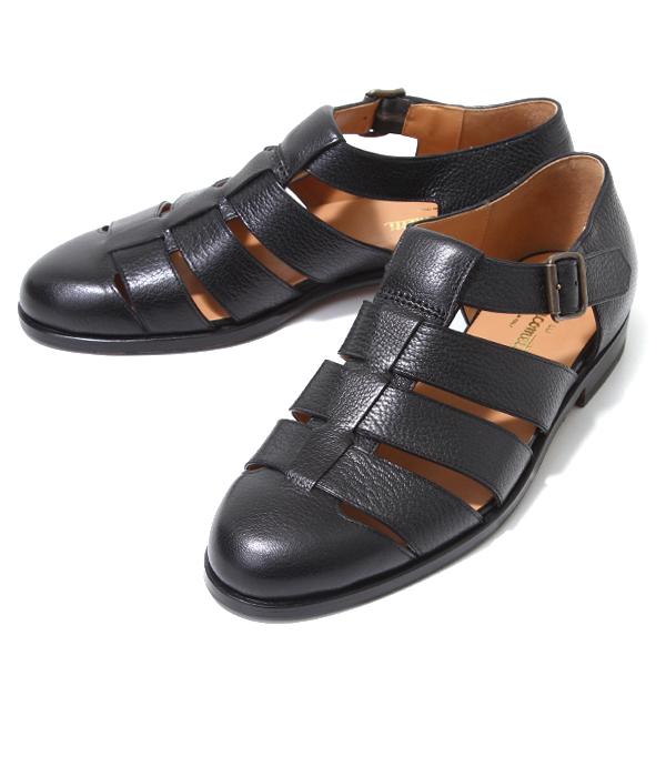 F.lli Giacometti / フラテッリ ジャコメッティ : グルカサンダル -MAROKID/NERO- : グルカサンダル サンダル 靴 レザー 本革 キッドレザー イタリア 定番 メンズ : FG166-MAROKID-NERO【MUS】