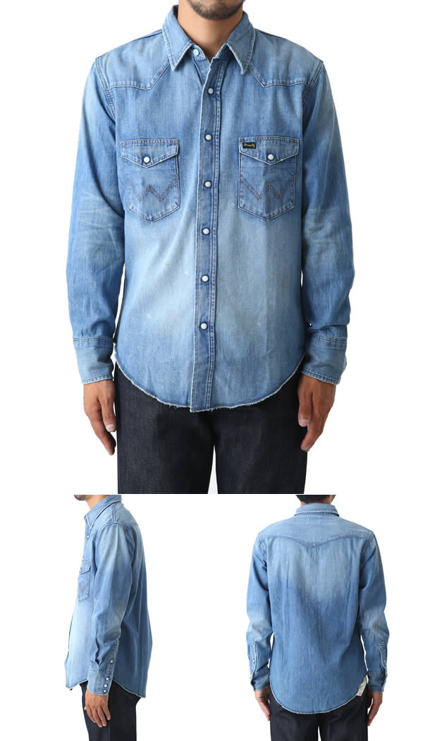 Wrangler [논쟁]/127MW WESTERN SHIRTS-Light Used-(웨스턴 셔츠 커맨더 WRANGLER 2016-겨울 신작) WM1727-356