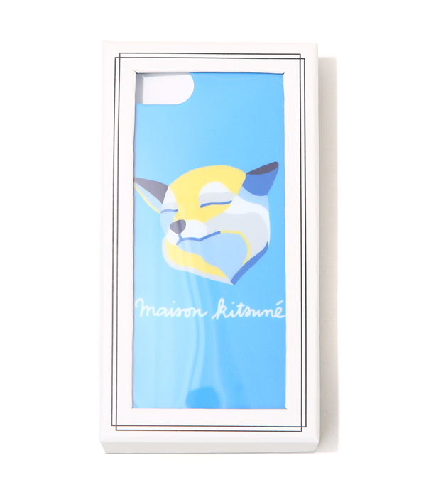 MAISON KITSUNE [maison fox] / IPHONE CASE FOX INES LONGEVIAL(iPhone7-adaptive case) (maison fox eyephone case iPhone tricolor Fox Paris) KUI8707