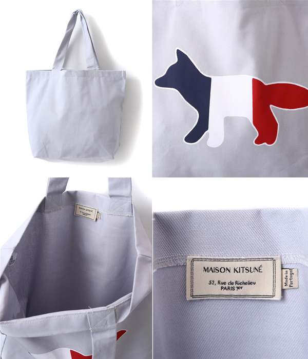 MAISON KITSUNE [maison fox] / TOTE BAG TORICOL FOX (maison fox tote bag eye Fox Paris) KUX8706