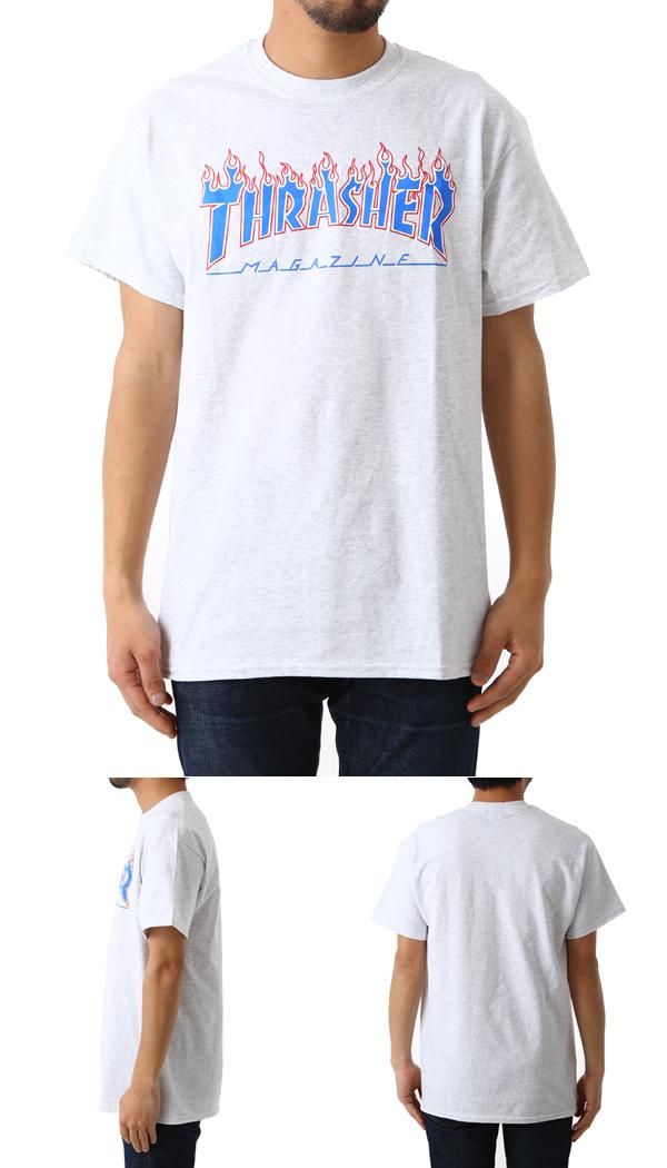 4c493a6d3220 THRASHER  slasher    PATRIOT FLAME S S T-SHIRTS (slasher skating short  sleeves T-shirt) PATRIOT-FLAME-ASHGRY