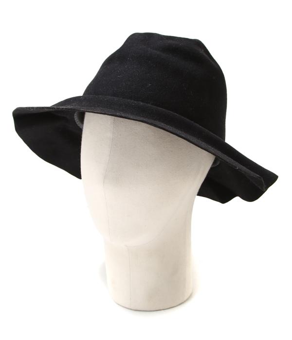 【アウトレットキャンペーン!】HORISAKI / ホリサキ : EASY BURNT FUR FELT LONG BRIM HAT / 全2色 : ラビットファー フェルト エッジ バーント ハット 帽子 : RHRYST007【RIP】