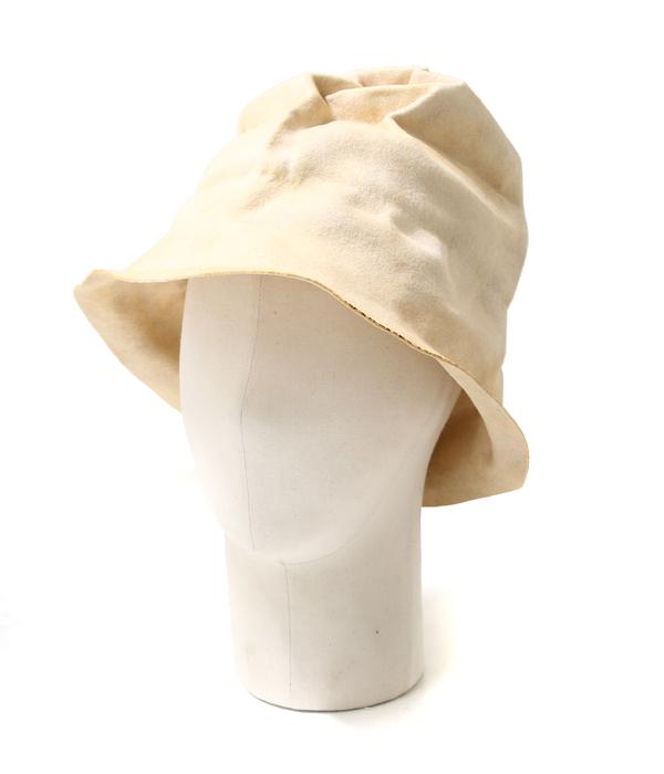 【SPECIAL PRICE!】HORISAKI / ホリサキ : EASY BURNT FUR FELT HAT with BAND-bone- : ラビットファー フェルト エッジ バーント ハット 帽子 : RHPK006-EB-bone【RIP】