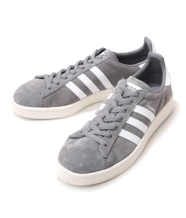 adidas Originals / アディダス オリジナルス : CAMPUS -グレイ/ホワイト- : キャンパス スニーカー 靴 シューズ : BZ0085 【PIE】