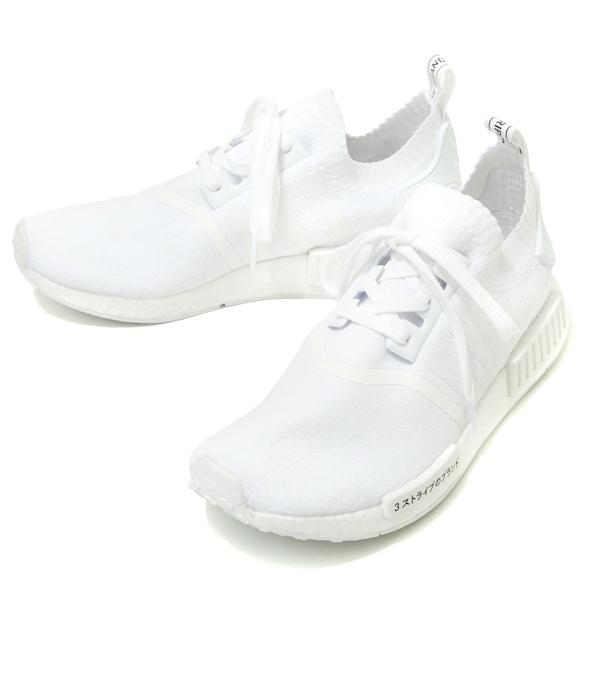 adidas Originals / アディダス オリジナルス : 【メンズ】NMD_R1 PK-ランニングホワイト/ランニングホワイト/ランニングホワイト- : エヌエムディー アールワン プライムニット PRIMEKNIT 17AW 17秋冬 : BZ0221 【WAX】