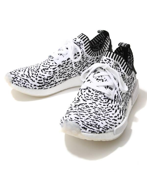 adidas Originals / アディダス オリジナルス : 【メンズ】NMD_R1 PK -ランニングホワイト/ランニングホワイト/コアブラック- : エヌエムディー アールワン プライムニット PRIMEKNIT 17AW 17秋冬 : BZ0219 【WAX】