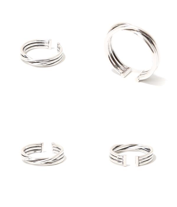 PHILIPPE AUDIBERT [필립 오 디 베일] / Alicia twisted ring pm(brass silver color) (링 액세서리 황동 실버 칼라) BG3136