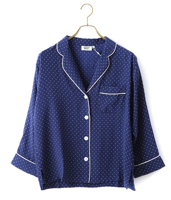 SLEEPY JONES / スリーピージョーンズ : silk marina pajama shirt : スリーピージョーンズ パジャマ パンツ ルームウェア シルク : WT001-F1238-410【DEA】