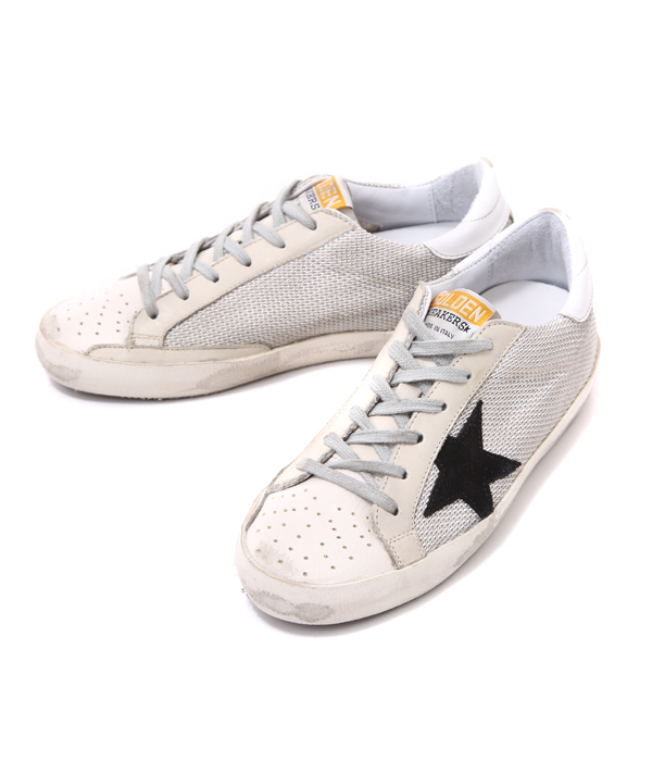 Golden Goose Womens Mid Star Glitter Sneaker in Metallic - Golden Goose Outlet