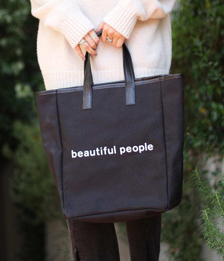 【サマーキャンペーン!】beautiful people / ビューティフルピープル : shape memory canvas tote : 形状記憶キャンバストートバッグ シェイプ メモリー キャンバス トート バッグ : 1935611937 【ANN】