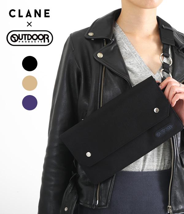 CLANE / クラネ : CLANE×OUTDOOR PRODUCTS WAIST BAG / 全3色 : アウトドアプロダクツ コラボ ウエストバッグ ショルダー サコッシュ フェス 旅行 カバン : 14116-8601【ANN】