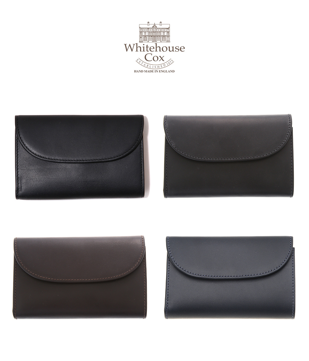 Whitehouse Cox / ホワイトハウスコックス : 【DERBY COLLECTION】3 FOLD PURSE / 全4色 : ウォレット 財布 3つ折り ホースハイドレザー ギフト プレゼント ラッピング可能 : S-7660-DERBY【MUS】