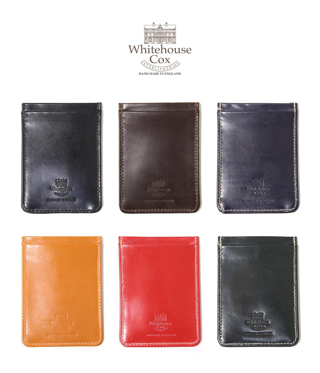 Whitehouse Cox / ホワイトハウスコックス : TRAIN PASS CASE (Bridle Leather) / 全6色 : ブライドルレザー トレイン パスケース 定期入れ カードケース ギフト プレゼント ラッピング可能 : S-9905-BRI【MUS】