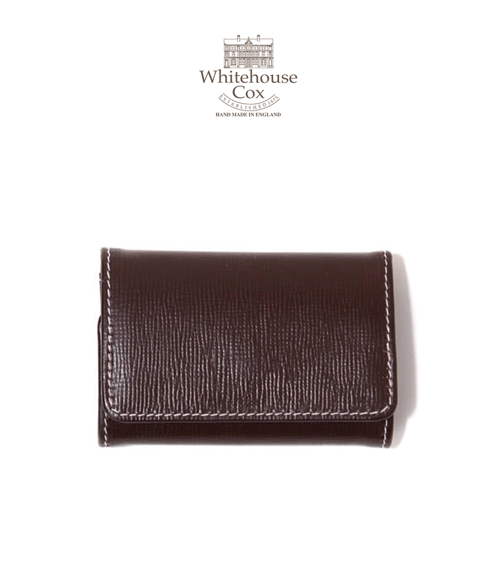 Whitehouse Cox / ホワイトハウスコックス : 【REGENT BRIDLE LEATHER】COIN PURSE/BRIDLE 2TONE : コインパース カードケース付き ウォレット レザー ギフトラッピング可能 : S-9084-REGENT-BL【MUS】