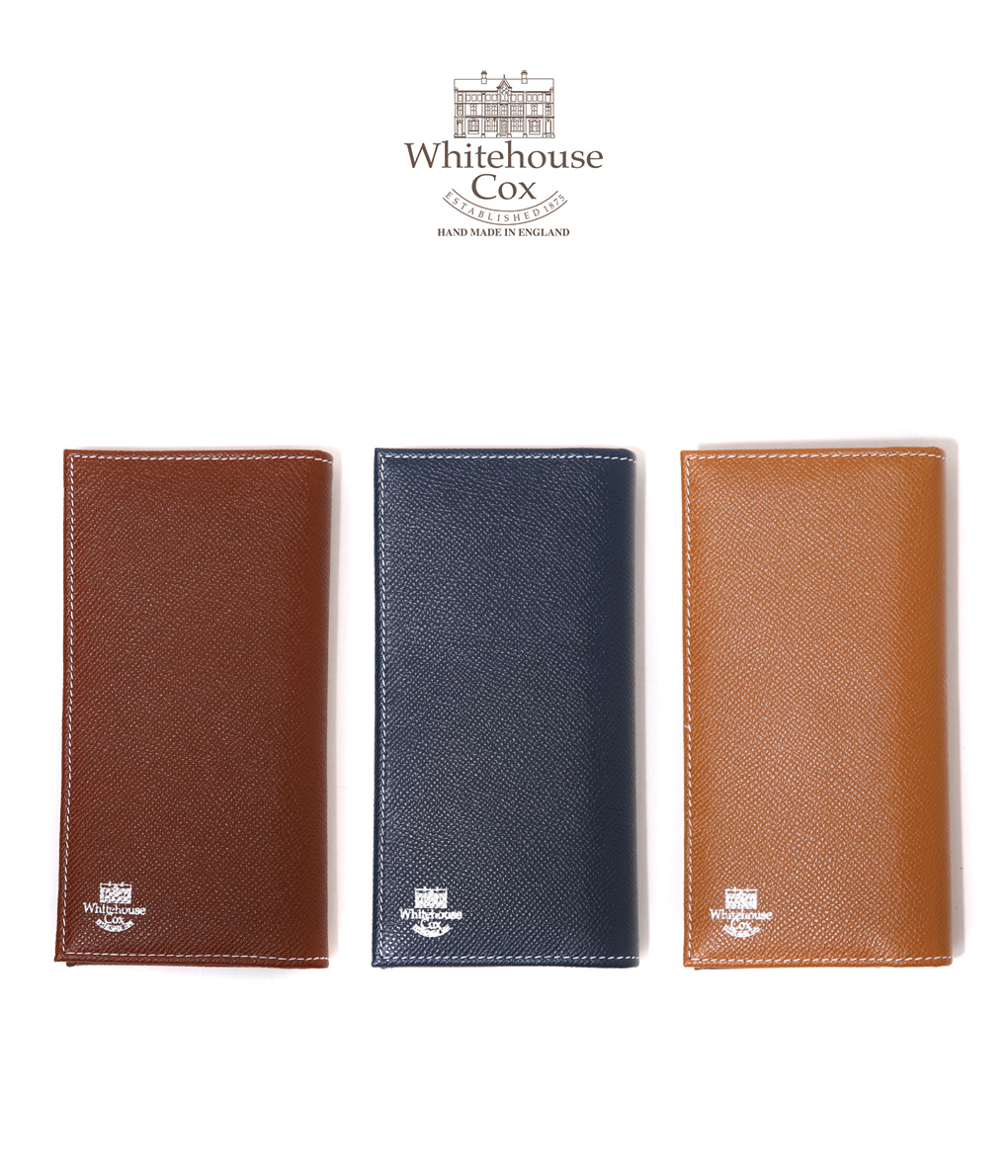 Whitehouse Cox / ホワイトハウスコックス : 【LONDON CALF×BRIDLE LEATHER COLLECTION】LONG WALLET / 全3色 : 長財布 ロングウォレット レザー ギフトラッピング可能 : S-9697-LONDONCALF-BLC【MUS】