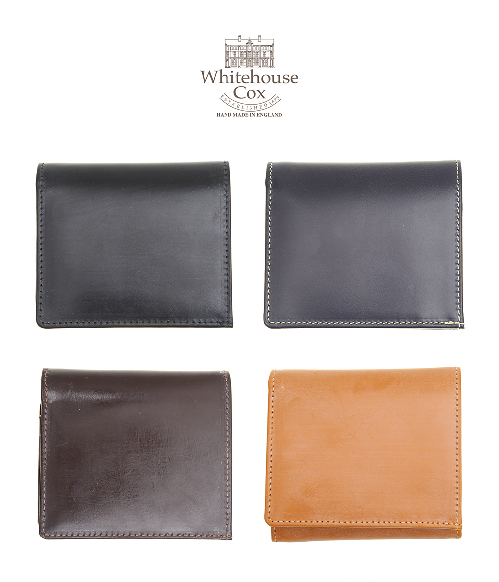 Whitehouse Cox / ホワイトハウスコックス : BRIDLE COMPACT WALLET / 全4色 : レザー 財布 ウォレット : S1975 【MUS】