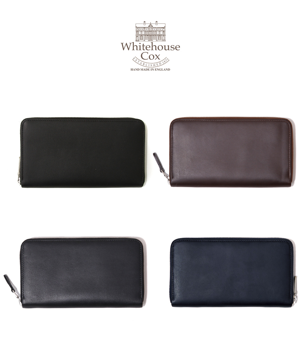 Whitehouse Cox / ホワイトハウスコックス : 【DERBY COLLECTION】LONG ZIP WALLET / 全4色 : ロングウォレット 長財布 レザー ラウンドジップ ダービーコレクション ギフトラッピング可能 : S-1760-DERBY【MUS】