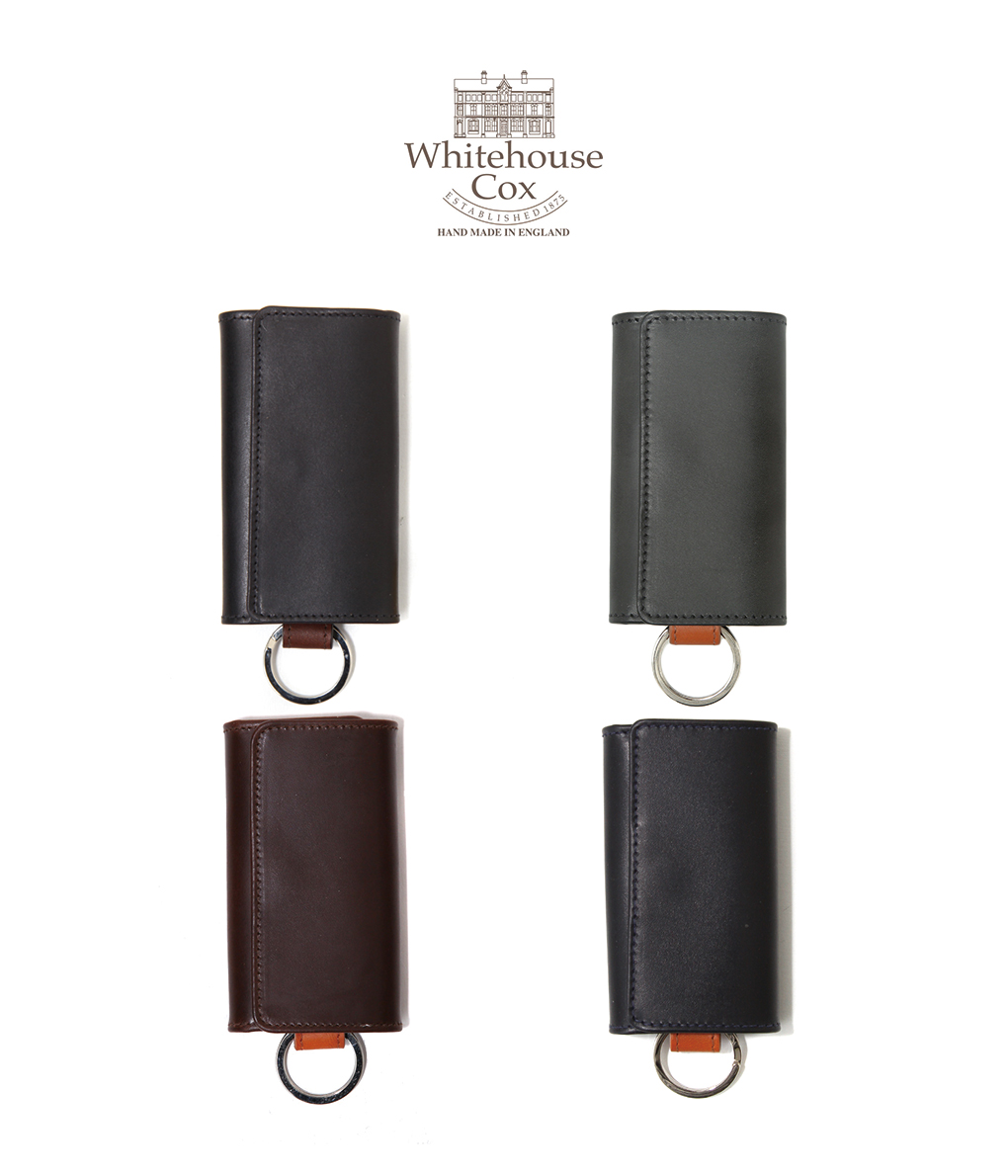 Whitehouse Cox / ホワイトハウスコックス : KEY CASE DERBY COLLECTION / 全4色 :ホワイトハウス ダービー 馬革 キーケース 鍵 museダービー メンズ : S-9692-DERBY【MUS】