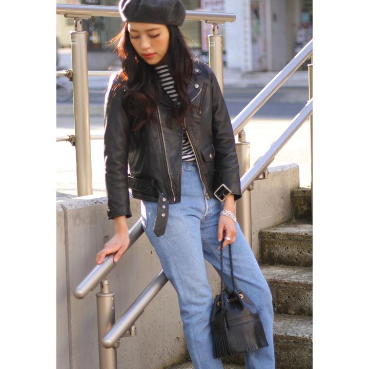 beautiful people / ビューティフルピープル : vintage leather riders jacket : ヴィンテージ レザー ライダース ジャケット レディースキッズサイズ : 1725402411【ANN】