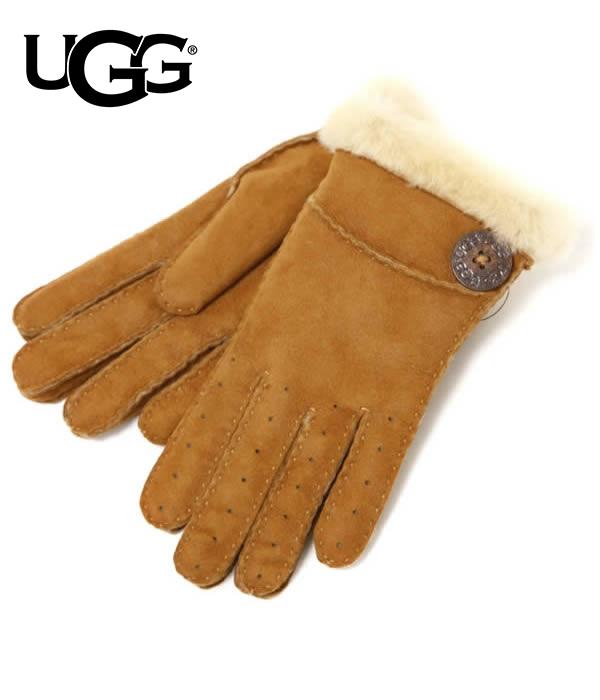 UGG / アグ : 【レディース】NEW BAILEY GLOVE : グローブ 手袋 シープスキン ロゴ : U1602【DEA】
