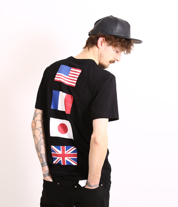 Stampd (スタンプド) Black All City Flag T (STAMPD LA DOPE by STAMPD dope T-shirt cut-and-sew A$AP BIGBANG) SLA-M118T