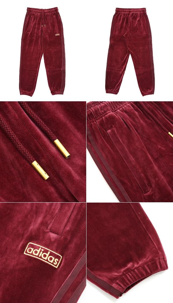 Adidas Originals (아디다스 オリジナルス)/VELOUR CUFFED TRACK PANTS (아디다스 オリジナルス 벨벳 트랙 팬츠 트레이닝 복 유니폼 아디다스 オリジナルス) AY9231