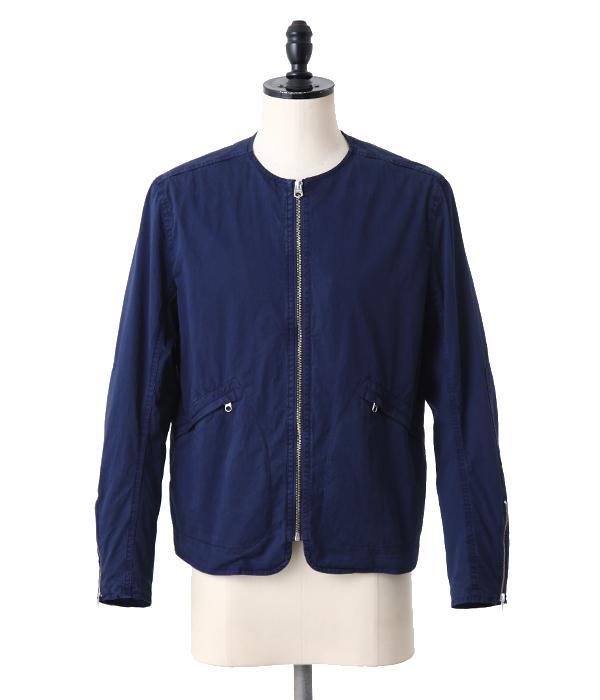Scye / サイ : high density cotton satin indigo zip up jacket : ジャケット インディゴ ジップアップ サテン : 1117-61092【MUS】
