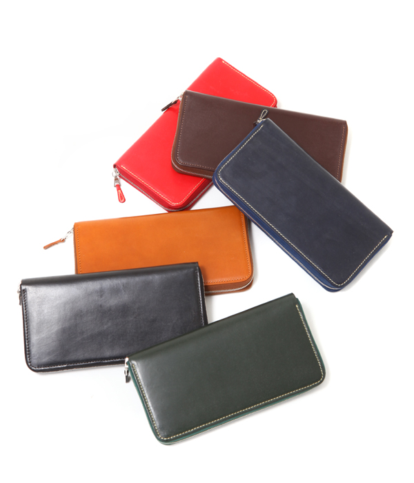Whitehouse Cox / White House coxswain: All LONG ZIP WALLET/BRIDLE / six  colors: Long wallet long wallet brei dollar leather cow Hyde giftwrapping