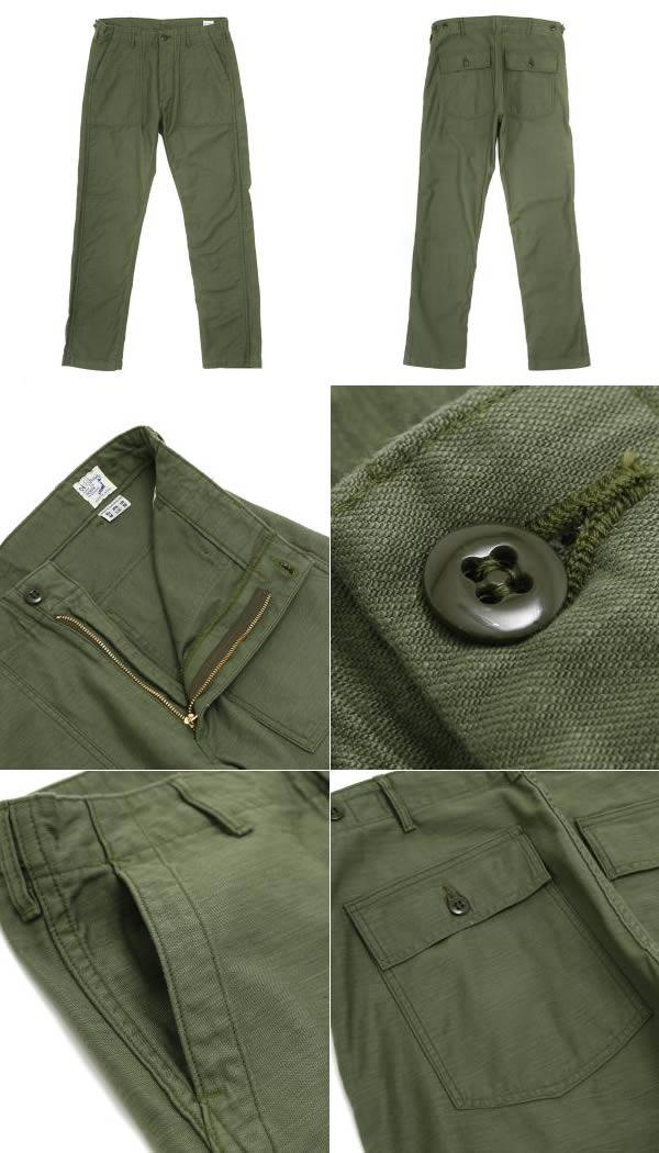 orslow [斯洛] / 美国斯利姆适合疲劳绿色 (yuesfatigpants 工作裤货物裤军事) 01-5032-16