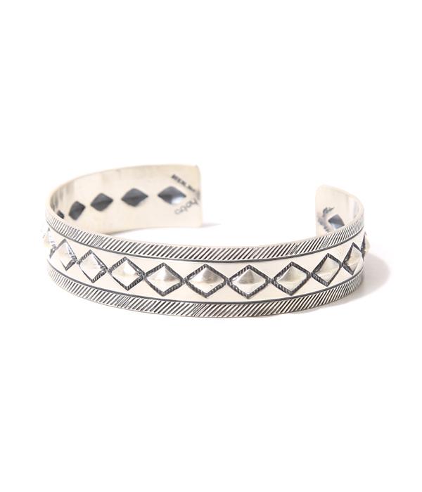 【サマーキャンペーン!】hobo / ホーボー : Cobblestone Silver Bracelet Narrow by STANLEY PARKER : ホーボー シルバー ブレスレット バングル アクセサリー : HB-A2312【NOA】
