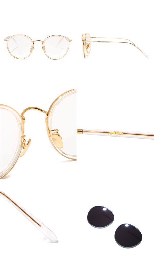 A.D.S.R. [エーディーエスアール] / EVANS CLEAR / GOLD (handmade ADSR エーディーエスアールエヴァンスサングラス glasses men gap Dis) EVANS06