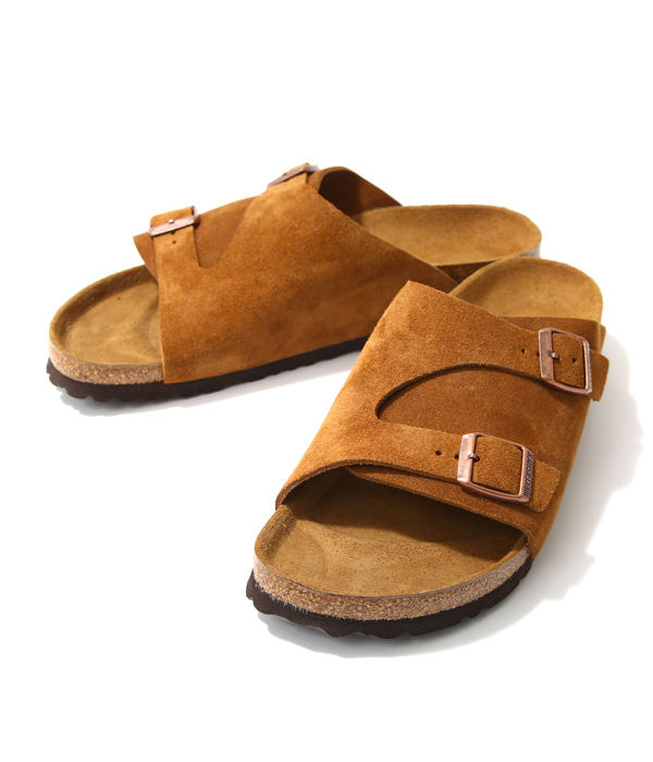 BIRKENSTOCK / ビルケンシュトック : ZURICH BROWN(ナローフィット)-ブラウン (約25cm~28cm) : チューリッヒ ビルケン サンダル コンフォート シューズ 靴 軽量 レザー : BST050403【STD】【REA】