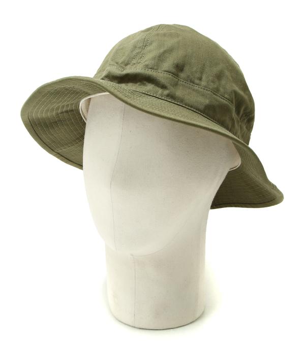 【サマーキャンペーン!】orSlow / オアスロウ : US ARMY HAT -GREEN/WHITE EYELET- : ユーエス アーミー ハット デニム 帽子 : 03-001-16A【STD】