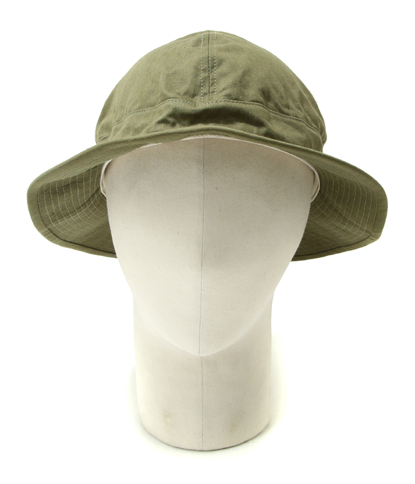 f047168ab7c orSlow   or low  US ARMY HAT -GREEN WHITE EYELET-  US army hat denim hat  03 -001-16A