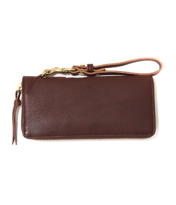 SLOW / スロウ : round long wallet - チョコ - : 財布 ロング ウォレット : 333S11404-choco【COR】