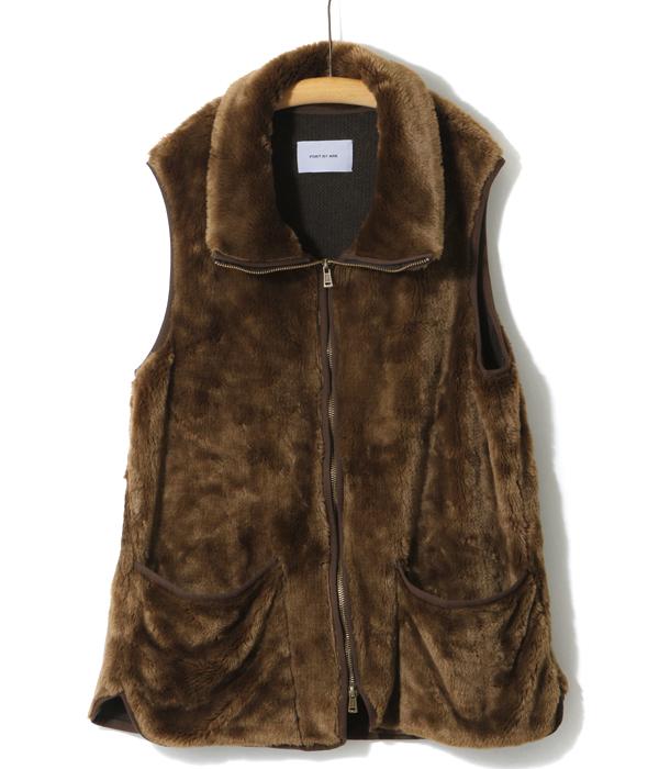 PORT BY ARK / ポートバイアーク : fur vest / : ポートバイアーク クラシック ファーベスト ベスト ファー ライナー メンズ : P-02001【COR】