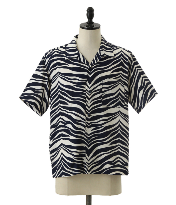 STAR OF HOLLYWOOD / スターオブハリウッド : ZEBRA S/S OPEN SHIRT : ホットロッド アロハ シャツ 半袖シャツ オープンカラーシャツ : SH37879【STD】