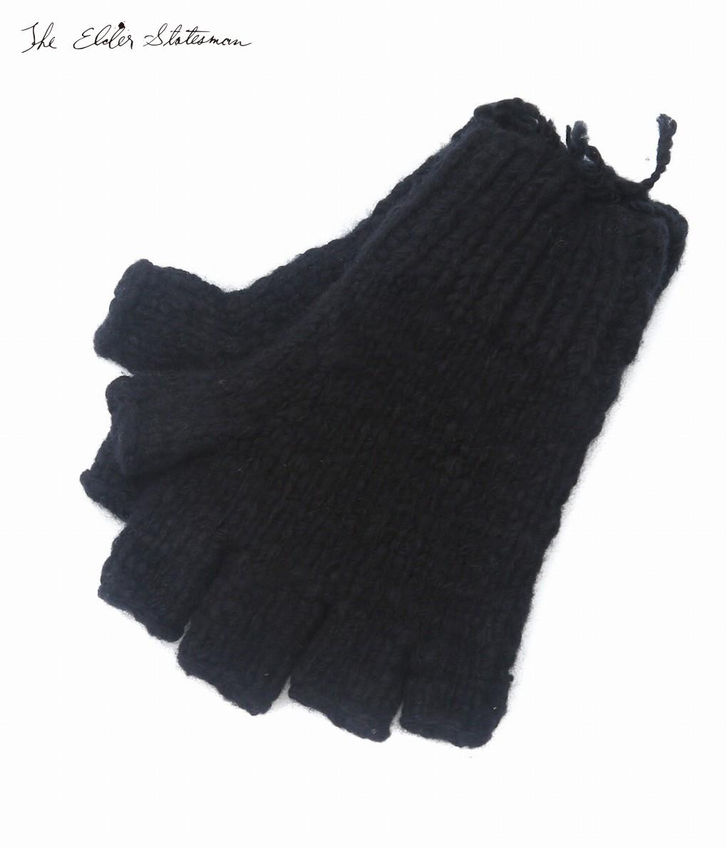 The Elder Statesman / ジ エルダー ステイツマン : fingerless gloves-BLACK- : フィンガーレス 手袋 グローブ メンズ : FG-FINGERLESS 【RIP】【BJB】