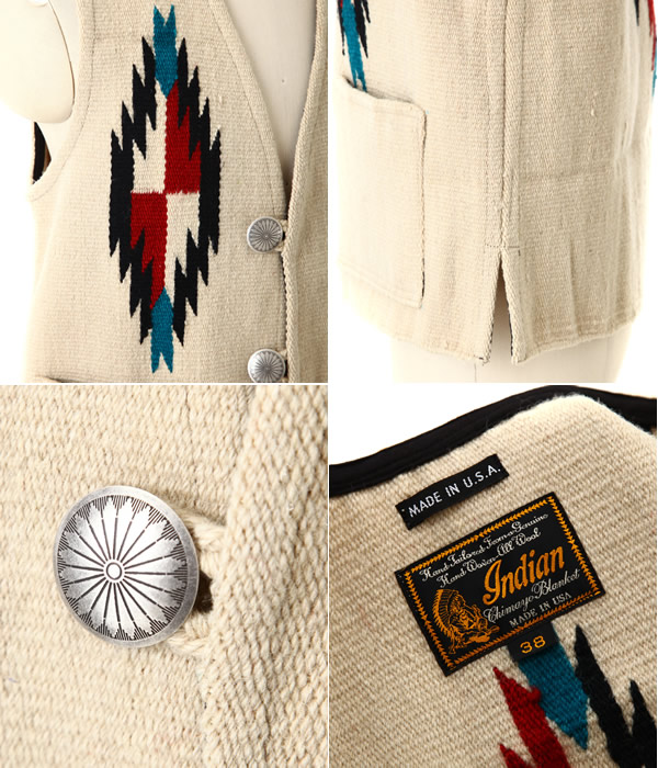 INDIAN MOTORCYCLE (인디언 모터 사이클) CHIMAYO VEST (MADE IN USA) (チマヨ 베스트)